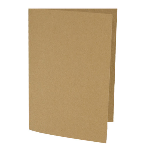 A6 Card Blanks, Recycled Brown Kraft