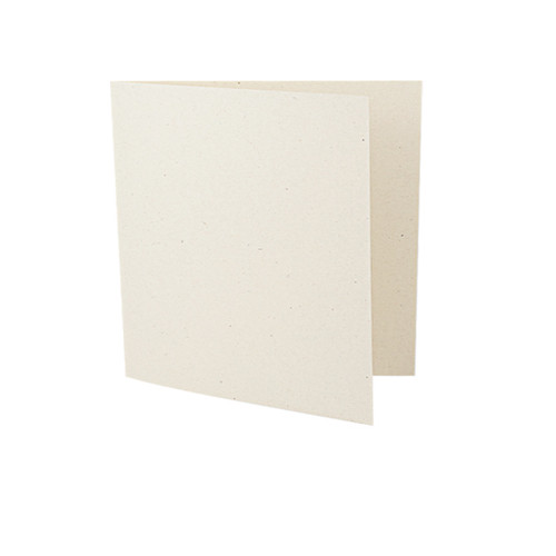 Large square recycled ivory fleck card blank