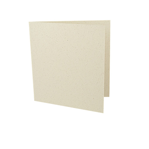 Large square recycled ivory grain card blank