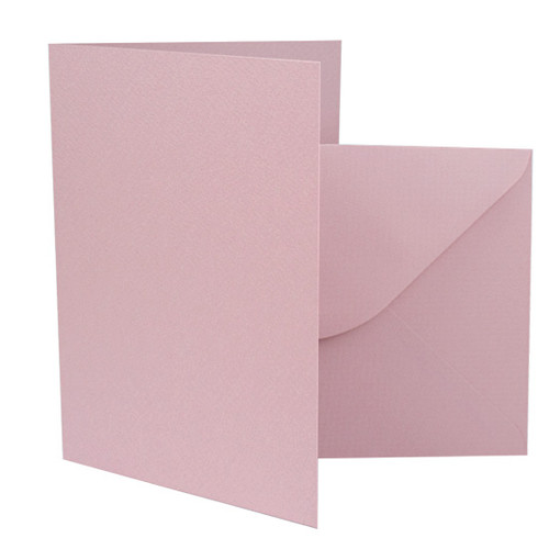 5 x 7 Dusky Pink Card Blanks with envelopes