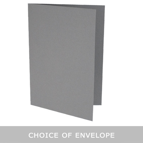 5 x 7 Grey Card Blank with envelope choice