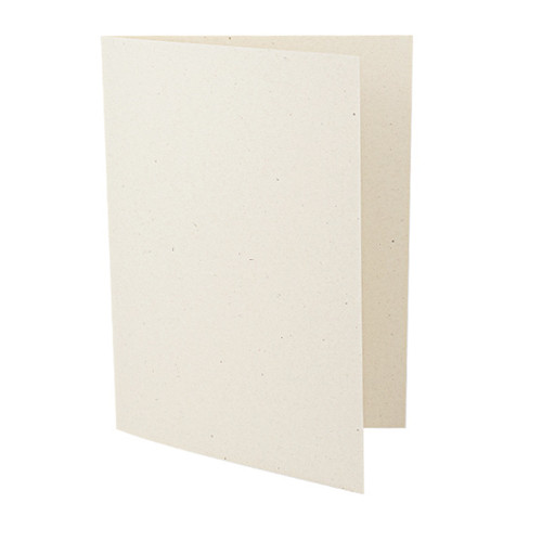5 x 7 Recycled ivory fleck card blank