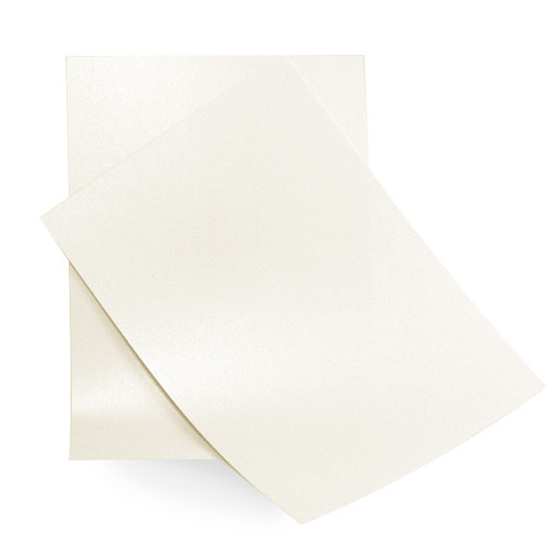 5 x 7 Ivory white pearl card sheets