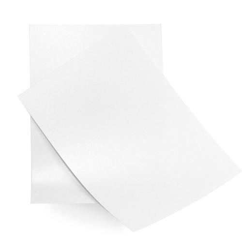 5 x 7 ice white pearl card sheets