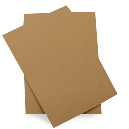 5 x 7 Recycled brown kraft card sheets