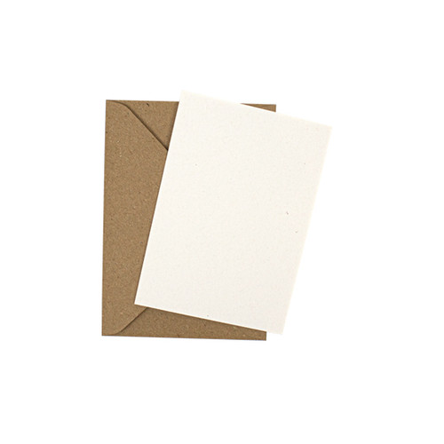 A7 Recycled eco fleck mini flat sheet cards with envelopes