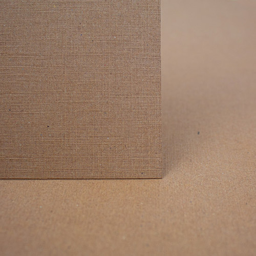 A4 Linen Card, Recycled Brown Kraft 270gsm
