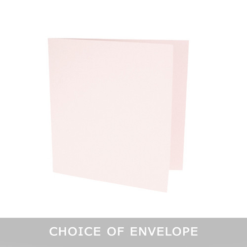 Square Barely Blush Card Blank with envelopes