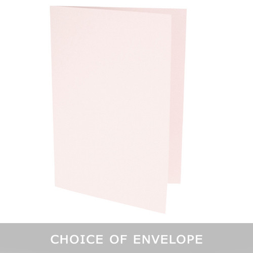 A6 Barely Blush Card Blank with choice of envelope
