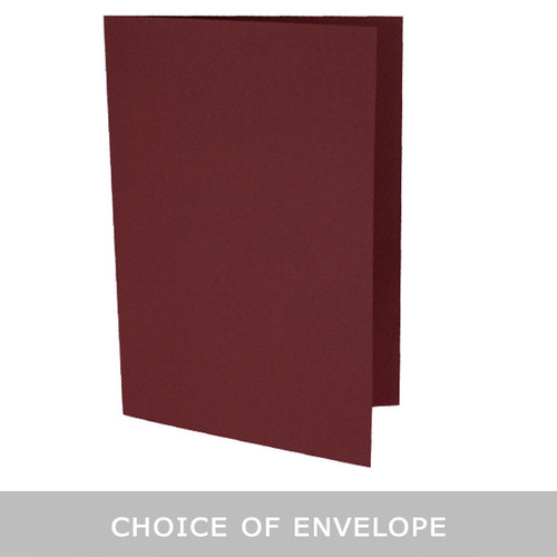 5 x 7 Bordeaux Card Blank with envelope choice