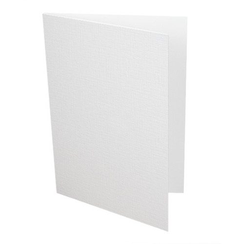 A5 White Linen Card Blanks, 300gsm