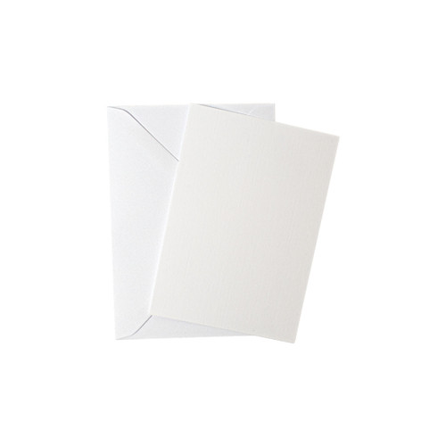 A7 White Linen RSVPs with Envelopes