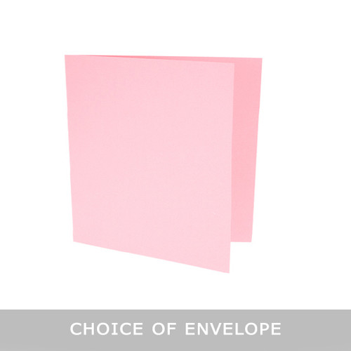 pastel pink large square card blanks with envelopes