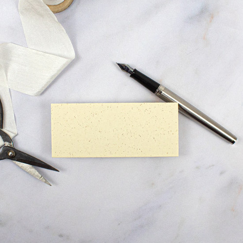 Recycled Ivory Grain Blank Flat Place Card