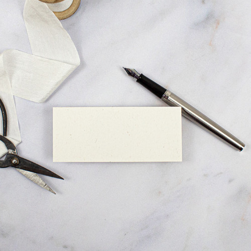 Recycled Eco Fleck Blank Flat Place Card