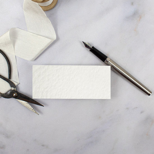 White Hammer Blank Flat Place Card