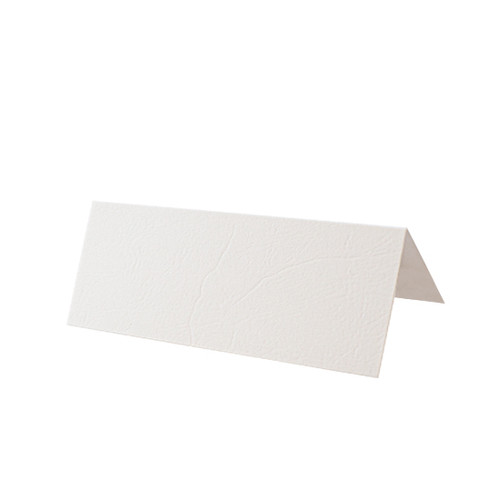 White Leather Place Card