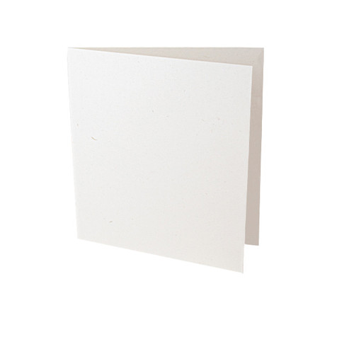 Small square recycled eco fleck card blank