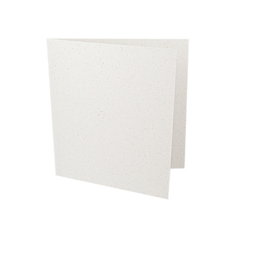 Small square recycled white grain card blank