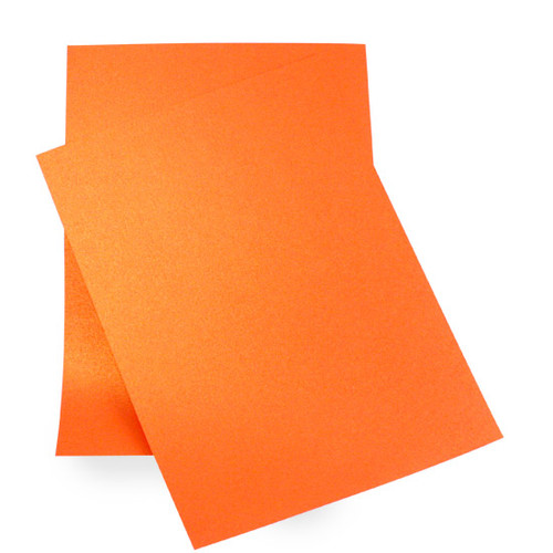 A5 Pearl Card Sheets, Orange Flame (50 pack)