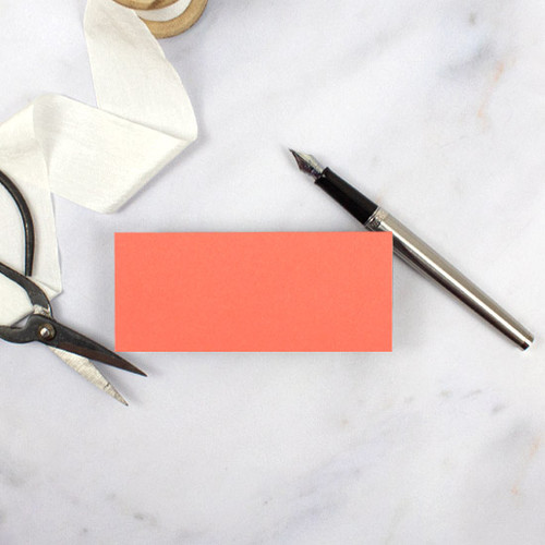 Coral Blank Flat Place Card