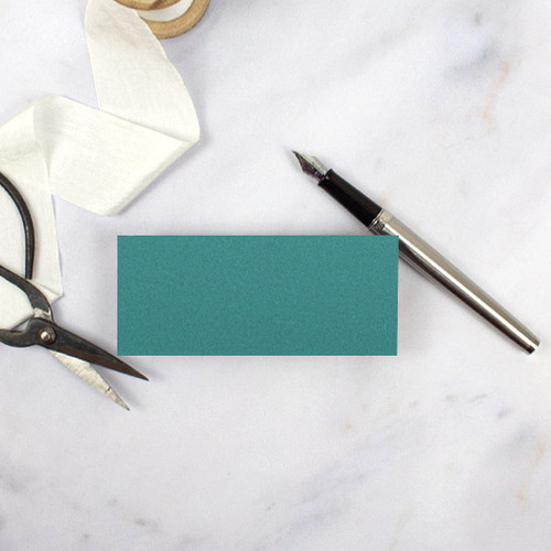 Teal Green Flat Place Card