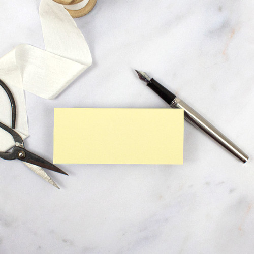 Pale Yellow Blank Flat Place Cards