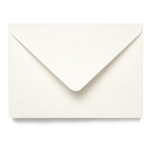 A5 Card Blanks with Envelopes, Recycled Aged White