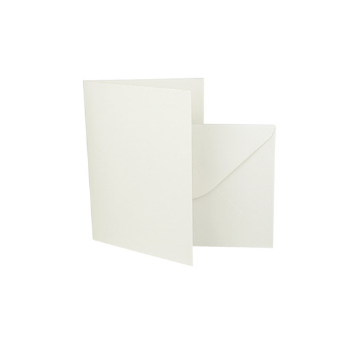 A7 Aged White Card Blank with envelope