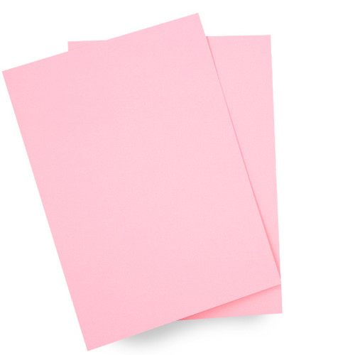 A5 Card Sheets, Pastel Pink Matte (50 pack)