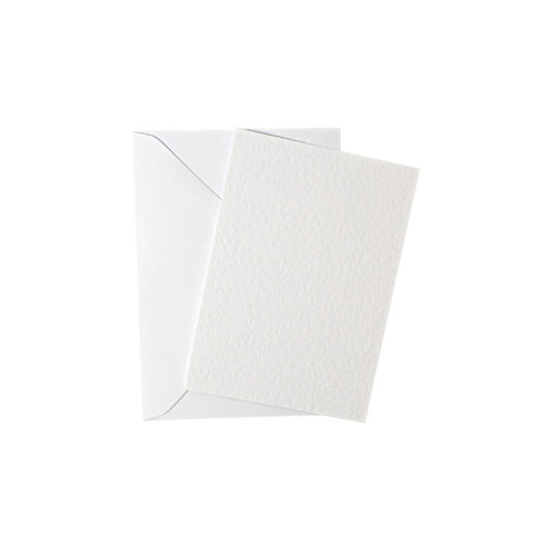 A7 White hammer mini flat sheet cards with envelopes