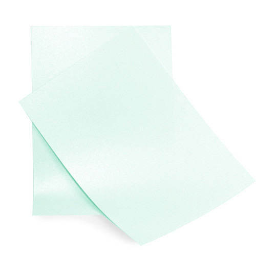 A5 Pearl Card Sheets, Aquamarine (50 pack)