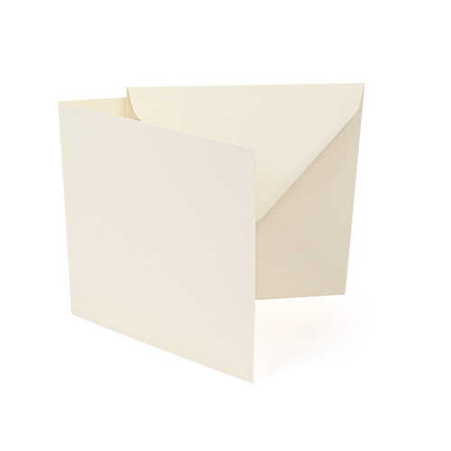 Small square ivory smooth card blanks with envelopes