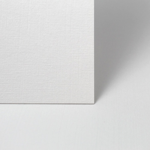 Small Square Card Blanks, White Linen