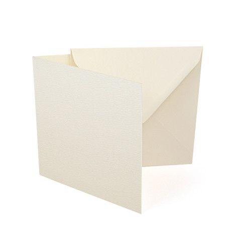 Large square ivory accent card blanks with envelopes