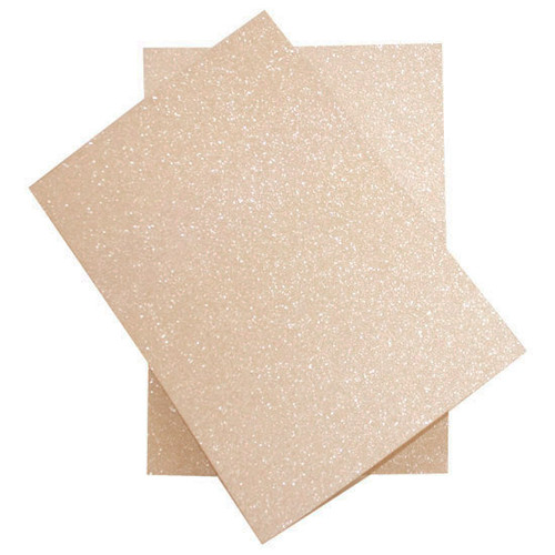 Wholesale Box, A4 Pastel Peach Glitter Card (non-shedding) (250 pack)