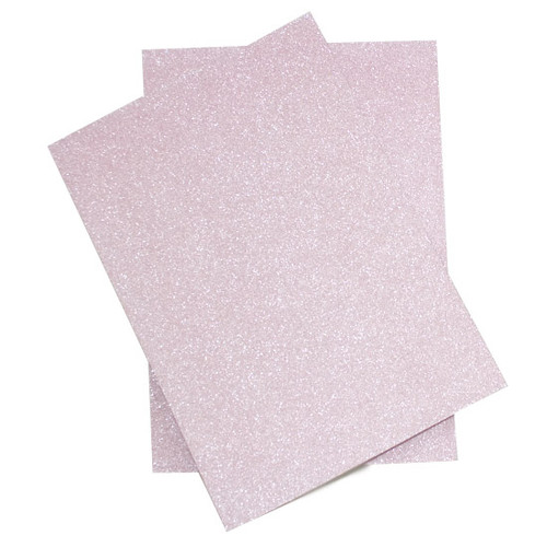 Wholesale Box, A4 Pastel Pink Glitter Card (non-shedding) (250 pack)