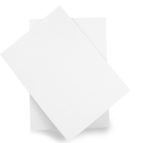 A6 Recycled white card sheets