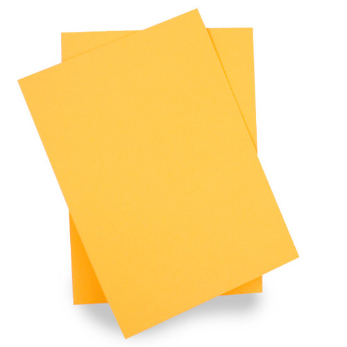 A5 Card Sheets, Golden Yellow Matte (50 pack)