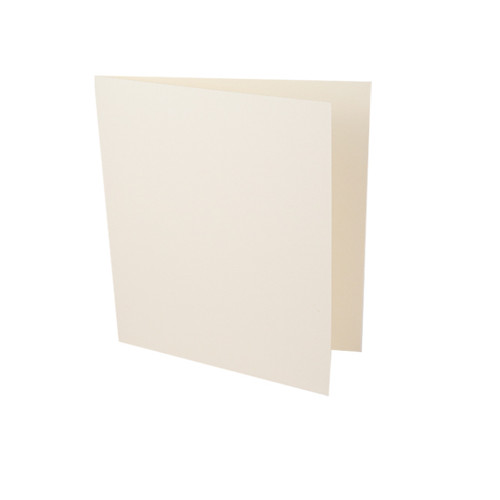 Large square ivory card blank