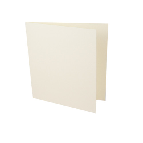 Small Square Card Blanks, Ivory Silk 350gsm