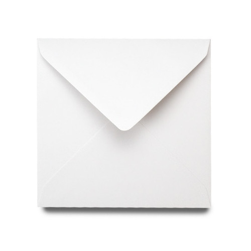 Small Square Card Blanks with Envelopes, White Matte 260gsm