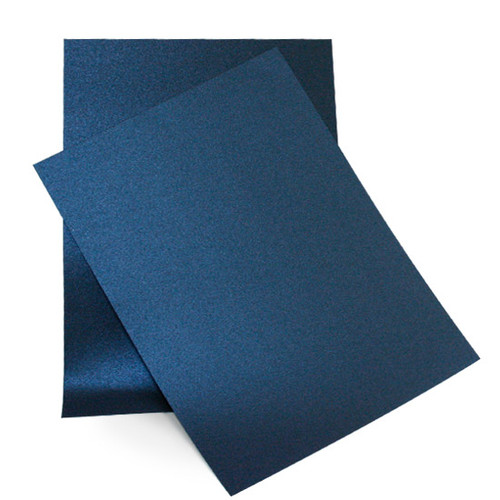 A5 Pearl Card Sheets, Navy Blue