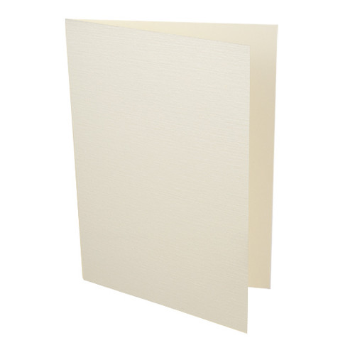 A5 Card Blanks, Ivory Linen
