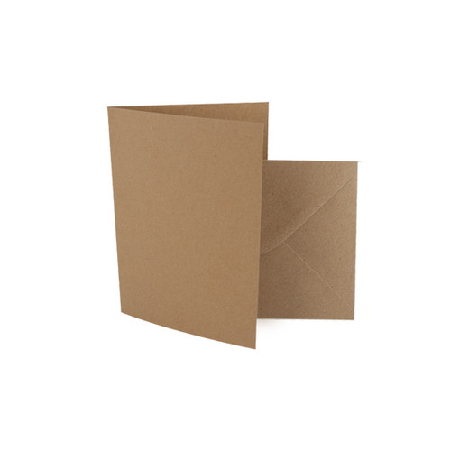 A7 Recycled brown kraft card blanks with envelopes