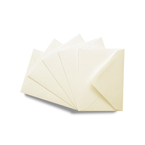 C7 Small Mini Envelopes, Premium Luxury Ivory