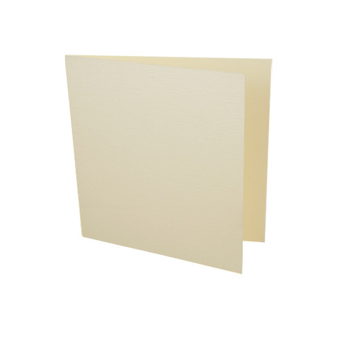 Wholesale Box, Small Square Cream Linen Card Blanks 260gsm (250 pack)