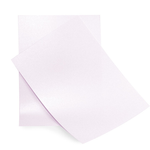 A6 Lavender pearl card sheets