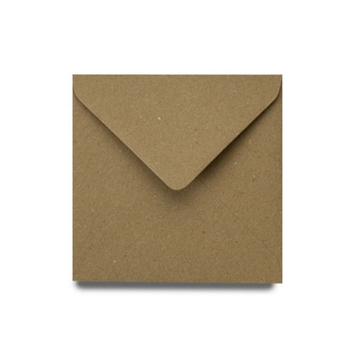 Square Envelopes 130mm, Recycled Brown Kraft