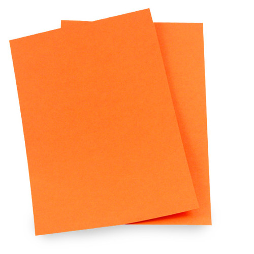 A5 Card Sheets, Orange Matte